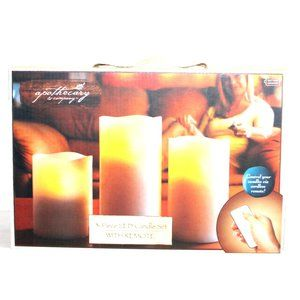 Apothecary & Company 3 Piece LED Candle Set Remote